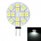 SENCART G4 2.5W 190lm 12-SMD 5050 LED Car Dome Lamp (12V)