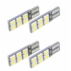 SENCART T10 2.4W 168lm 12-LED White Light Car Signal Lamp (12V / 4 PCS)