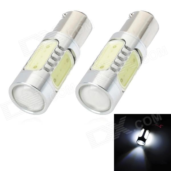 SENCART BAZ15D 7.5W 380lm 5-LED Car White Light Lamp Backup (DC 12 ~ 24V / PCS 2)