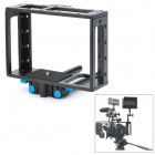 Universal Protective DSLR Camera Cage Stabilizer w/ Top Handle Set - Black