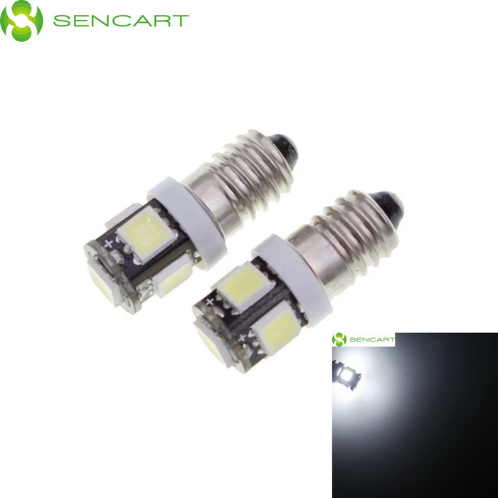 SENCART E10 2.5W 230lm 5-SMD 5060 LED White Light Car Backup Lamp (12V / 2 PCS)