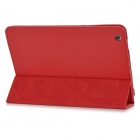Protective Lichee Pattern PU Leather Case Cover for Ipad MINI - Red