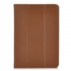 Protective Lichee Pattern PU Leather Case Cover for iPad Mini - Brown