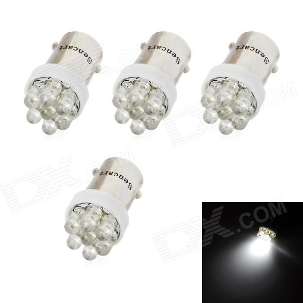SENCART BA9S 0.7W 42lm 7-LED White Light Car Headlamp (12V / 4 PCS)