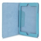 Protective Lichee Pattern PU Leather Case Cover for Ipad MINI - Light Blue