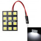 SENCART G4 6W 540lm 12-SMD 5060 LED White Light Car Brake Lamp w/ T10 / BA9S / Festoon (12V)