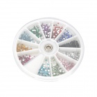 Decorative 12-Color Nail Art Acrylic Artificial Diamond Kit - Multicolored