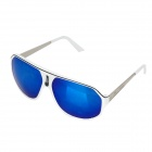 OREKA 1072 Fashion PC Lens + High Nickel Alloy Frame Sunglasses - White + Blue