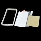 Protective Bumper Frame Case with Front / Back Sticker for Iphone 5 - White