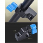 Mini 1/4 Threaded Aluminum Alloy 15mm Rod Clamp Holder for DSLR Camera