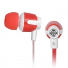 Senmai SM-E1018 Flat In-Ear-Ohrhörer w / Clip - Rot (3,5 mm Klinkenstecker / 120cm)