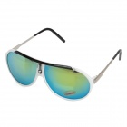 OREKA 1045 Fashion UV400 Protection PC Lens Sunglasses - White + Golden