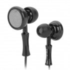 KM-2 Stylish Dual-Side In-Ear Earphones / Earbuds - Black (3.5mm Plug / 114cm)