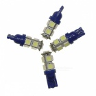 SENCART T10 1.8W 117lm 9-SMD 5050 LED Blue Light Car Instrument Lamps (12V / 4 PCS)