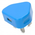 Mini 650mA USB Power Adapter / Charger - Blue (100~240V / UK Plug)