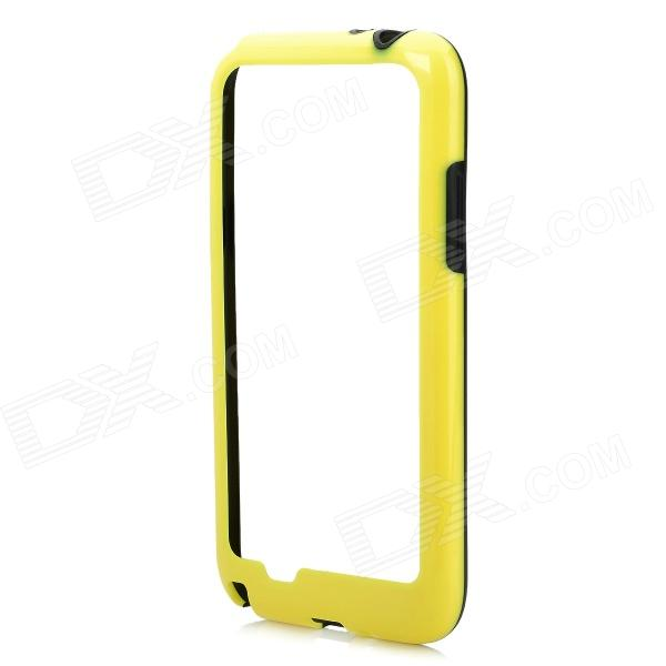 Protective Plastic Bumper Frame Case for Samsung Galaxy Note 2 N7100 - Yellow + Black nillkin protective plastic back case w screen protector for samsung galaxy note 2 n7100 yellow