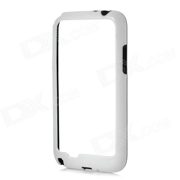 Protective Plastic Bumper Frame Case for Samsung Galaxy Note 2 N7100 - White + Black телефон проводной panasonic kx ts2350ru