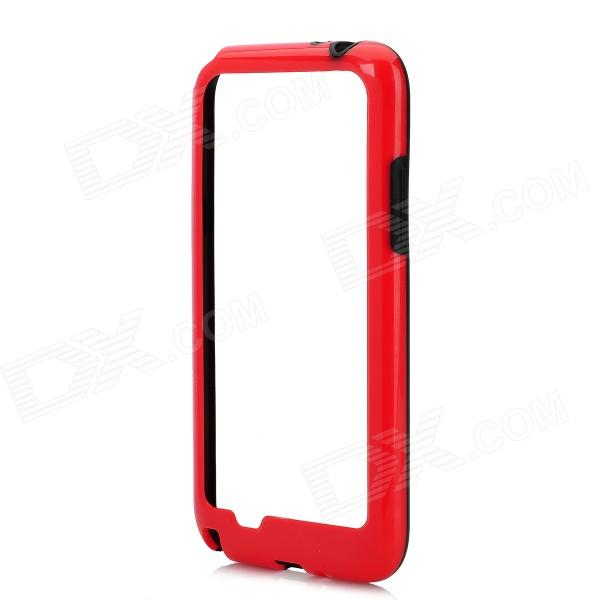 Protective Plastic Bumper Frame Case for Samsung Galaxy Note 2 N7100 - Red + Black 10x telescope fisheye macro wide angle lens set for samsung note 2 n7100 black red