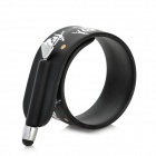 KTWO Skull Pattern Wristband Capacitive Screen Stylus - Black