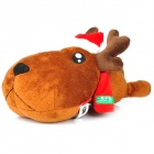 WENTONGZI Cute Deer Style Odor Absorber Bamboo Charcoal Bag for Auto - Brown + Red