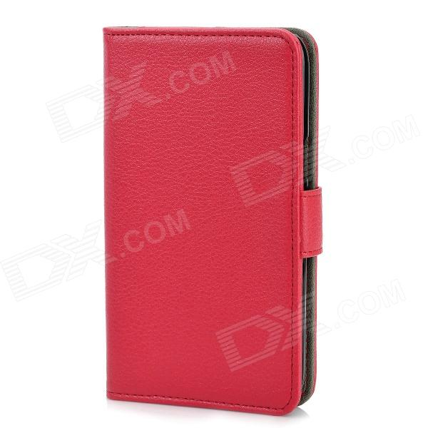 Protective Flip-Open PU Leather Case for Samsung Galaxy Note 2 N7100 - Red чехол для samsung galaxy note ii n7100 yoobao executive leather розовый