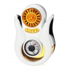 Car Outlet Perfume Air Freshener with Thermometer - White + Golden + Black