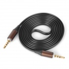 3.5mm TRRS Male to Male Audio Transmission Flat Cable - Black (114cm)
