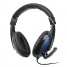 Danyin DT-2102 Headphones w/ Microphone - Black + Blue (3.5mm Plug / 235cm)