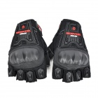 Summer Half-Finger Motorcycle Racing Gloves - Black (Pair / Free Size)