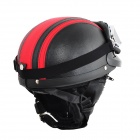 Cool Motorcycle Outdoor Sports Racing Half Helmet - Black + Red