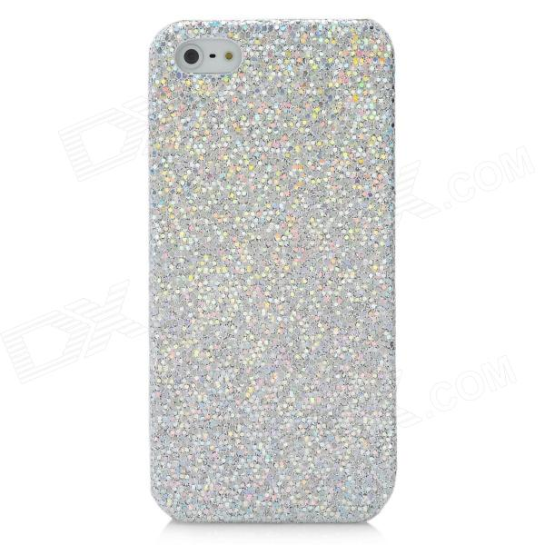 Protective Glittery Paillette Plastic Back Case for Iphone 5 - Silver nillkin protective matte plastic back case w screen protector for iphone 6 4 7 golden