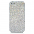 Protective Glittery Paillette Plastic Back Case for Iphone 5 - Silver