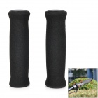 Anti-Slip Sponge + Resin Cycling Grips Bicycle Bar End Handlebar - Black (Pair)