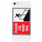 Protective Skateboard Boy PC Back Case for Iphone 5 - White + Red + Black