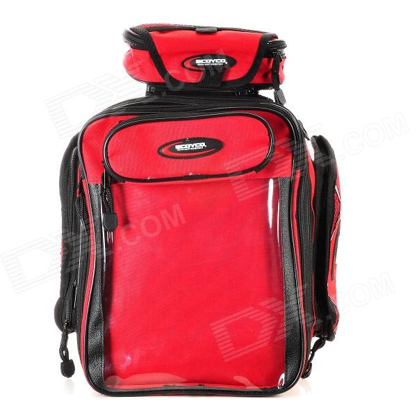Scoyco MB09 Multi-Function Motorcycle Fuel Tank Bag - Red + Black