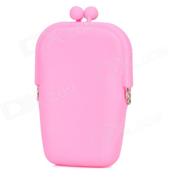 Stylish Kiss Style Twist Clasp Silicone Coin Purse - Pink (M-Size) mbp4201003 48 4ch01 021 for acer aspire 5536 5536g laptop motherboard ddr2 free shipping 100