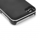 Rechargeable Bluetooth V3.0 Wireless Slide-out 50-Key Keyboard Hard Case for Iphone 5 - Black