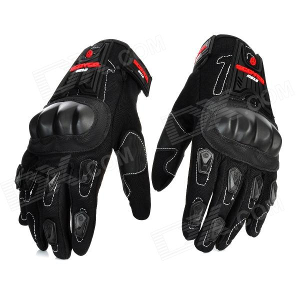 Scoyco MC12 Full-Fingers Motorcycle Racing Gloves - Black (Pair / Size M) pro biker mcs 04 motorcycle racing half finger protective gloves red black size m pair