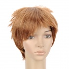 404 27/30 Fashion Man's Short Straight Hair Wig - Golden
