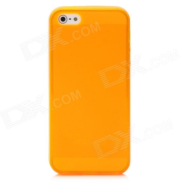 Protective Matte Screen Plastic Back Case for Iphone 5 - Orange nillkin protective matte plastic back case w screen protector for iphone 6 4 7 brown