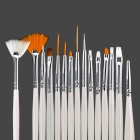 Profesional DIY del clavo 15-en-1 Art Brushes Set - Blanco