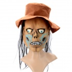 Scary Evil Scarecrow Mask for Halloween / Cosplay / Costume Party - Brown + Blue