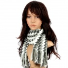 Fashion London Style Fall-Winter Collection Plush Scarf - White + Grey