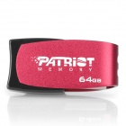 PATRIOT Cool Disk Rotational USB 2.0 Flash Drive - Black + Deep Pink (64GB)