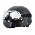 Cool Motorcycle Outdoor Sports Racing Half Helmet - Black