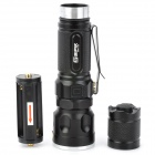 Sipik SK96 Cree XM-L T6 800lm 3-Mode White Light Zooming Flashlight - Black (1 x 18650 / 3 x AAA)