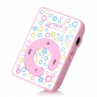 Mini Pressing Button MP3 Player w/ TF - Pink
