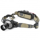 NEW-622 310lm 3-Mode White Zoom Headlamp w/ 6-Front 5-Rear Red LED Light (1 x 18650)