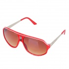 OREKA 1072 Retro Outdoor Riding PC Lens Eye Protection Goggle Sunglasses - Red