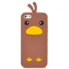 Cute Cartoon Chicken Style Protective Silicone Back Case for Iphone 5 - Brown